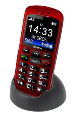 Základný telefón Aligator A670 Senior, červená VADA VZHĽADU, ODRENINY