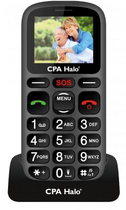 Základný telefón CPA HALO 16, čierna