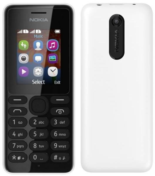 Základný telefón Nokia 108 White POUŽITÝ, NEOPOTREBOVANÝ TOVAR