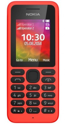 Základný telefón Nokia 130 Dual SIM Red POUŽITÝ, NEOPOTREBOVANÝ TOVAR