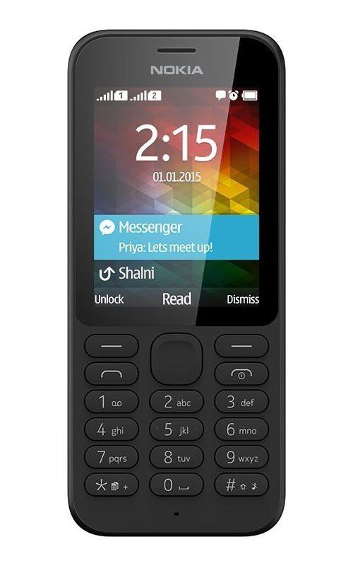 Základný telefón Nokia 215 Dual SIM Black ROZBALENÉ