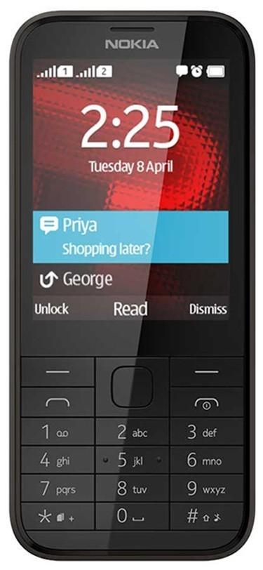 Základný telefón NOKIA 225 DS Black