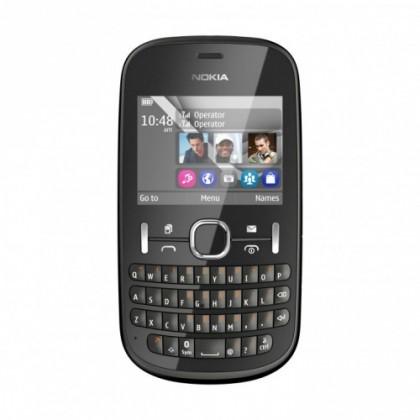 Základný telefón Nokia Asha 200 Graphite ROZBALENO