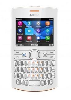 Základný telefón  Nokia Asha 205 (Dual SIM) Orange-White