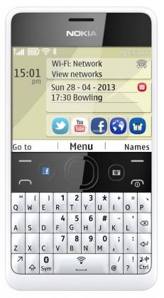 Základný telefón Nokia Asha 210 (Dual SIM) White