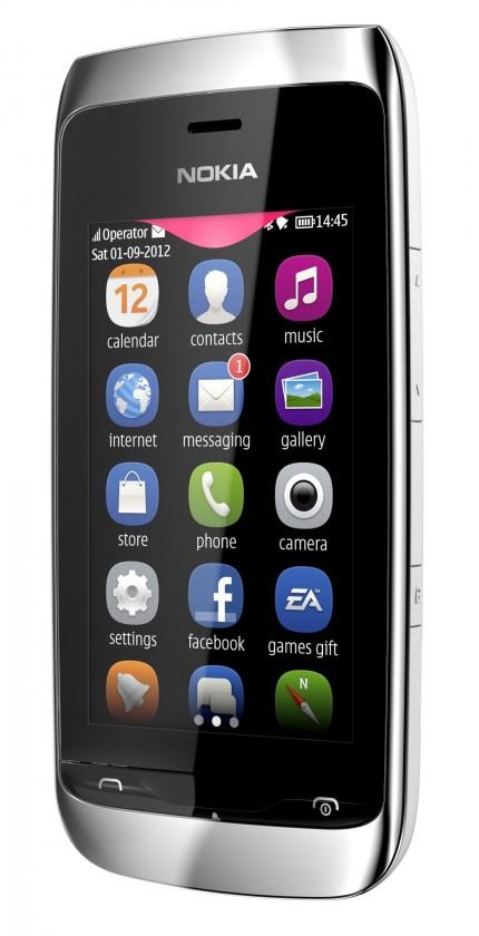 Základný telefón Nokia Asha 309 White ROZBALENO