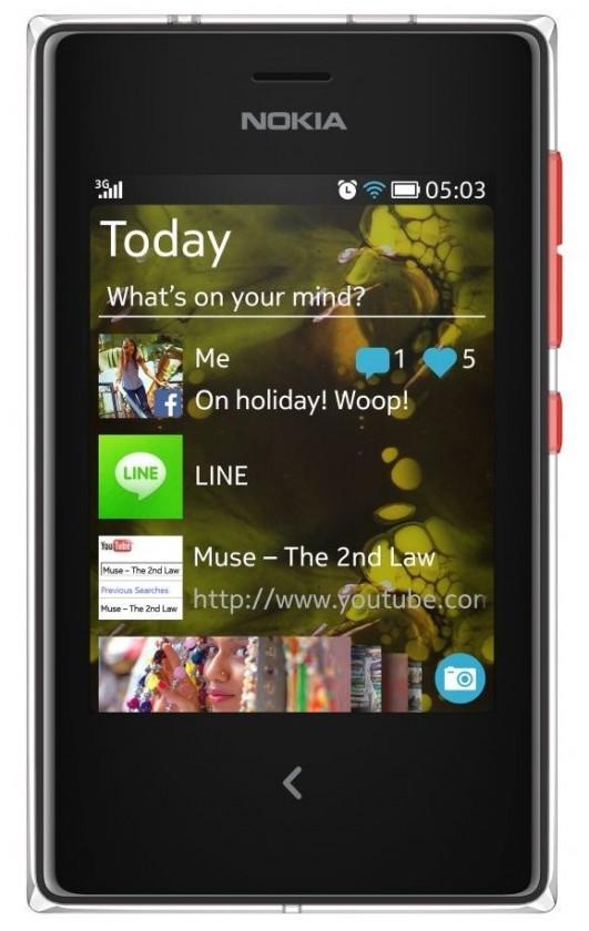 Základný telefón  Nokia Asha 503 Red