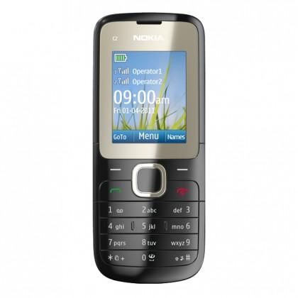Základný telefón  Nokia C2-00 Jet Black