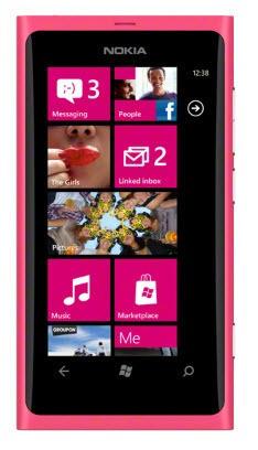 Základný telefón  Nokia Lumia 800 Matt Magenta (růžová)