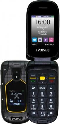 Základný telefón Odolný tlačidlový telefón Evolveo StrongPhone F5, véčko, čierna