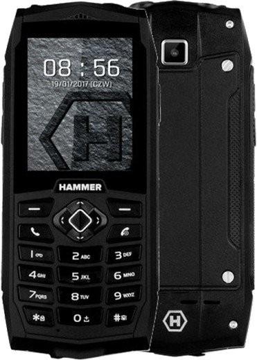 Základný telefón Odolný tlačidlový telefón myPhone Hammer 3, čierna POUŽITÉ, NEOP