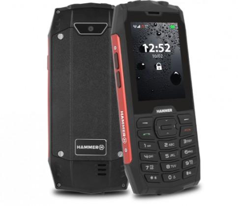 Základný telefón Odolný tlačidlový telefón myPhone Hammer 4, červená