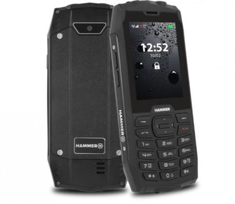 Základný telefón Odolný tlačidlový telefón myPhone Hammer 4, čierna