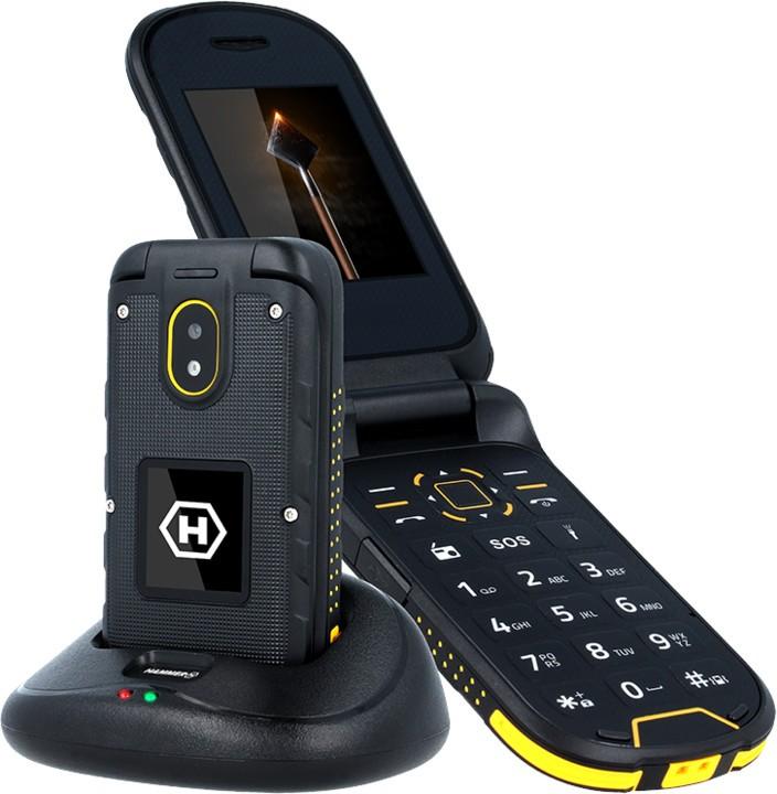 Základný telefón Odolný tlačidlový telefón myPhone Hammer BOW PLUS, oranžová