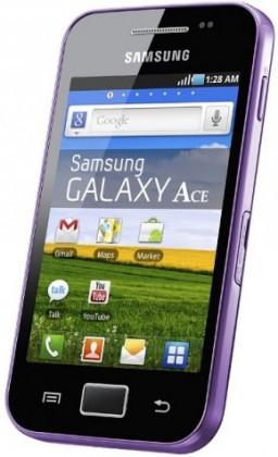 Základný telefón Samsung Galaxy Ace (S5830), fialový
