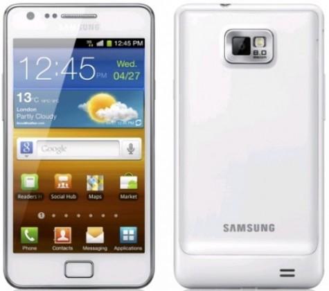 Základný telefón Samsung Galaxy S II (i9100), biely