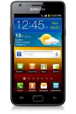 Základný telefón Samsung Galaxy S II (i9100), čierny
