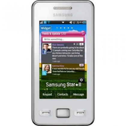 Základný telefón Samsung Star II (S5260), biely