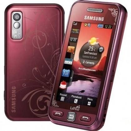Základný telefón Samsung Star (S5230), červený