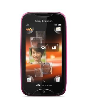 Základný telefón  Sony Ericsson Walkman Mix WT13 Pink on Black