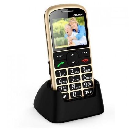 Základný telefón Telefón pre seniorov CPA Halo 11, zlatá