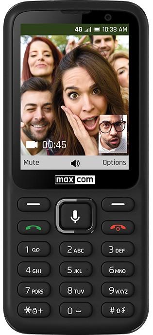 Základný telefón Tlačidlový telefón Maxcom Classic MK241, KaiOS, čierna