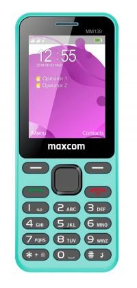 Základný telefón Tlačidlový telefón Maxcom Classic MM139 Banana, modrá