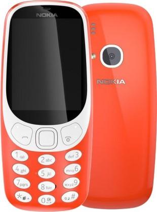 Základný telefón Tlačidlový telefón Nokia 3310 SS, červená