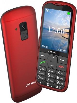 Základný telefón Tlačidlový telefón pre seniorov CPA Halo 18, červená