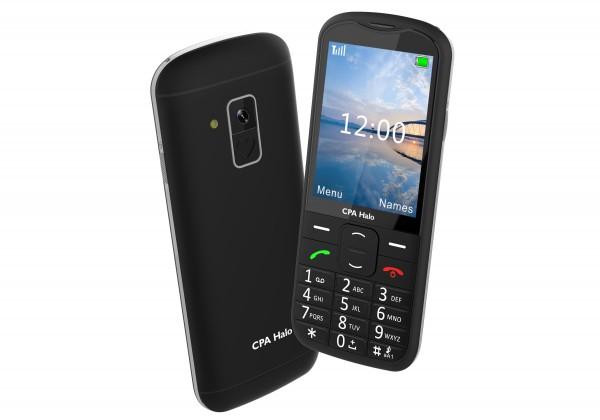 Základný telefón Tlačidlový telefón pre seniorov CPA Halo 18, čierna