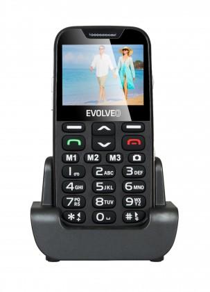 Základný telefón Tlačidlový telefón pre seniorov Evolveo EasyPhone XD, čierna