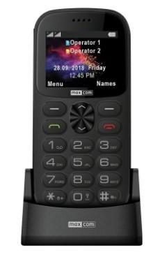 Základný telefón Tlačidlový telefón pre seniorov Maxcom Comfort MM471, šedá
