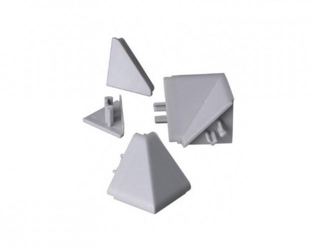 Zakončenie lišty na kuchynskú linku (trojuholník, strieborná)