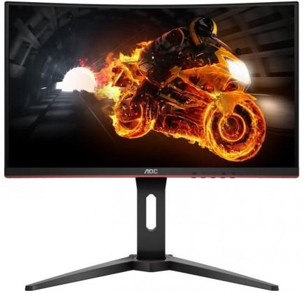Zakrivený monitor Monitor AOC C27G1, 27'', herný, prehnutý, FullHD, čierna POUŽITÉ,