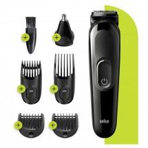 Zastrihávač fúzov a vlasov Braun MGK 3220, 6v1
