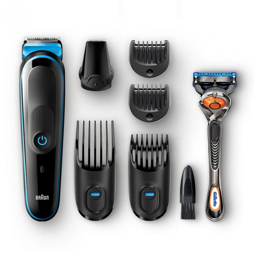 Zastrihávače vlasov Multifunkčný zastrihávač fúzov a vlasov 7v1 Braun MGK 5045