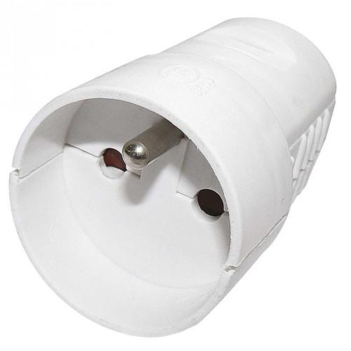 Zásuvka pre predlžovací kábel Emos P0042, biela