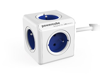 Zásuvky, rozdvojky Napájací adaptér PowerCube Extended 5 zásuviek blue, 1,5m