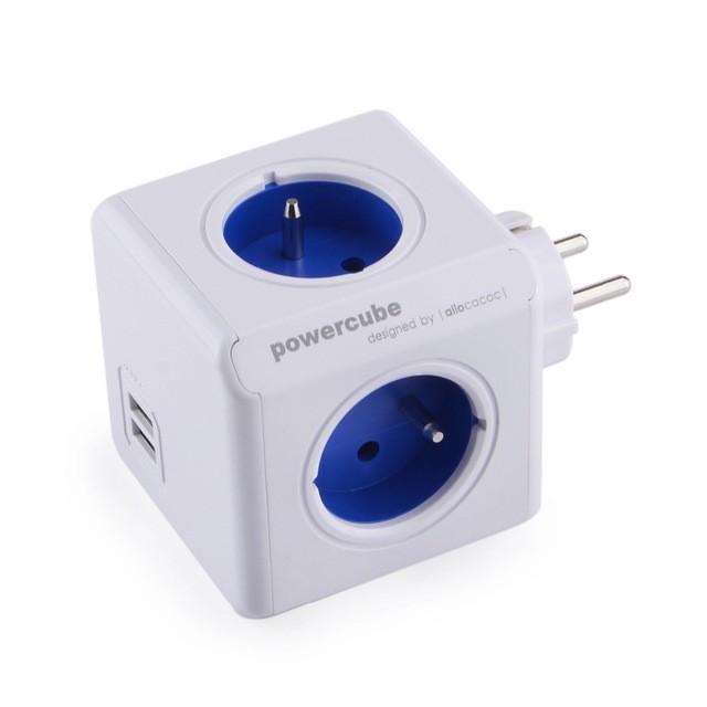 Zásuvky, rozdvojky Napájací adaptér PowerCube ORIGINAL 4 zásuvky, 2x USB