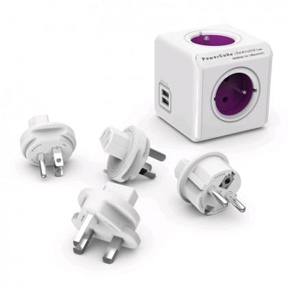 Zásuvky, rozdvojky PowerCube Rewirable USB + Travel Plugs