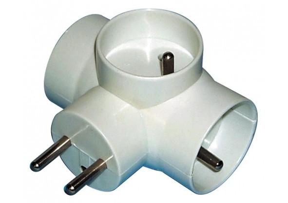 Zásuvky, rozdvojky Rozbočovacie zásuvka Emos P0024, 3xkulatá, biela