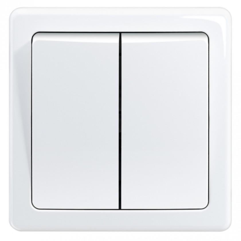 Zásuvky, rozdvojky Spínač Emos 3557G-05340 B1W, sériový, biely