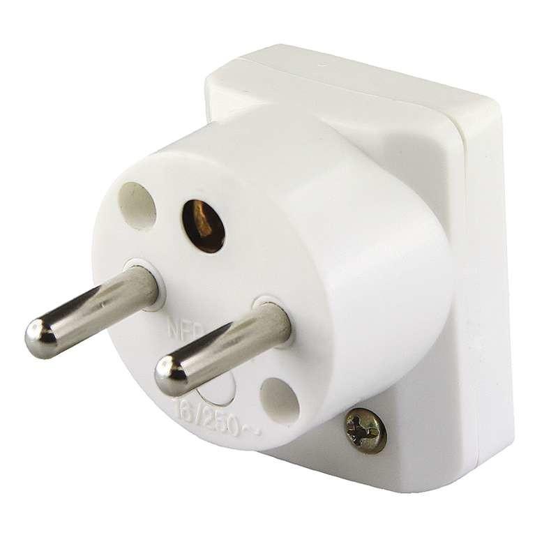 Zásuvky, rozdvojky Vidlica uhlová pre predlžovací kábel Emos P0035, biela