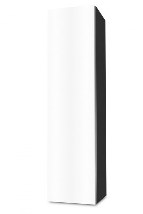 Závesná Brisbane - závesná skriňa nízka,pánty vľavo (antracit/biela)