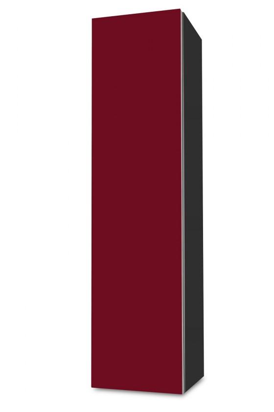 Závesná Brisbane - závesná skriňa nízka,pánty vľavo (antracit/bordó)