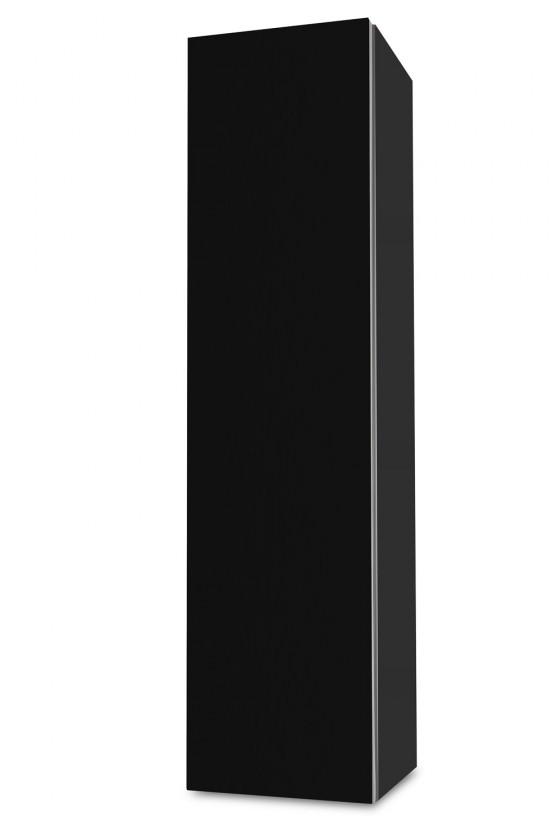 Závesná Brisbane - závesná skriňa nízka,pánty vľavo (antracit/čierna)