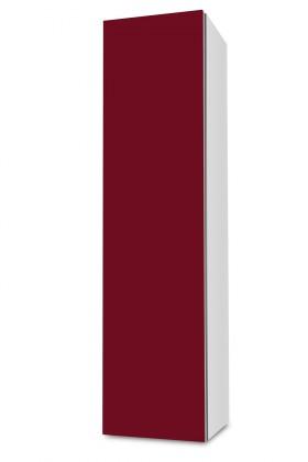 Závesná Brisbane - závesná skriňa nízka,pánty vľavo (biela/bordó)