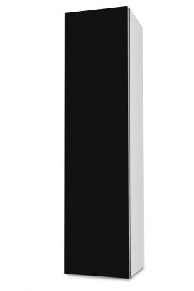 Závesná Brisbane - závesná skriňa nízka,pánty vľavo (biela/čierna)