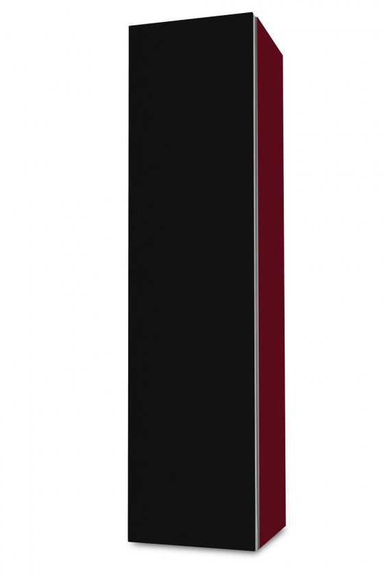 Závesná Brisbane - závesná skriňa nízka,pánty vľavo (bordó/čierna)