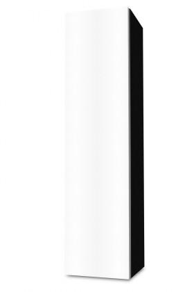 Závesná Brisbane - závesná skriňa nízka,pánty vľavo (čierna/biela)
